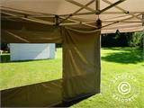 Carpa plegable FleXtents PRO Peak Pagoda 3x3m Latte, incluye 4 muros laterales - 28
