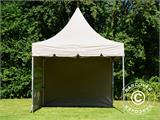 Carpa plegable FleXtents PRO Peak Pagoda 3x3m Latte, incluye 4 muros laterales - 30