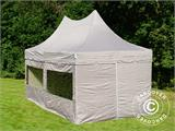 Quick-up telt FleXtents PRO Peak Pagoda 3x6m Latte, inkl. 6 sidevegger - 4
