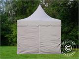 Quick-up telt FleXtents PRO Peak Pagoda 3x6m Latte, inkl. 6 sidevegger - 5