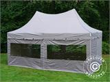Quick-up telt FleXtents PRO Peak Pagoda 3x6m Latte, inkl. 6 sidevegger - 7