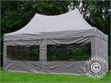 Quick-up telt FleXtents PRO Peak Pagoda 3x6m Latte, inkl. 6 sidevegger - 8