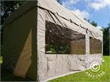 Quick-up telt FleXtents PRO Peak Pagoda 3x6m Latte, inkl. 6 sidevegger - 9
