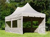 Quick-up telt FleXtents PRO Peak Pagoda 3x6m Latte, inkl. 6 sidevegger - 12