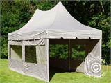 Quick-up telt FleXtents PRO Peak Pagoda 3x6m Latte, inkl. 6 sidevegger - 13