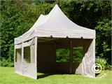 Quick-up telt FleXtents PRO Peak Pagoda 3x6m Latte, inkl. 6 sidevegger - 14