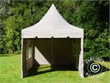 Quick-up telt FleXtents PRO Peak Pagoda 3x6m Latte, inkl. 6 sidevegger - 15