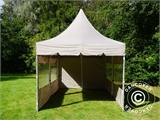 Quick-up telt FleXtents PRO Peak Pagoda 3x6m Latte, inkl. 6 sidevegger - 16