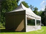 Quick-up telt FleXtents PRO Peak Pagoda 3x6m Latte, inkl. 6 sidevegger - 17