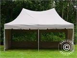 Quick-up telt FleXtents PRO Peak Pagoda 3x6m Latte, inkl. 6 sidevegger - 18