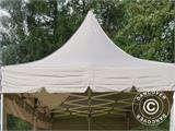 Quick-up telt FleXtents PRO Peak Pagoda 3x6m Latte, inkl. 6 sidevegger - 21