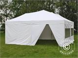 Pop up gazebo FleXtents PRO 6x6 m White, incl. 8 sidewalls - 4