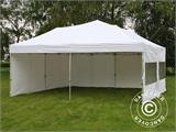 Pop up gazebo FleXtents PRO 6x6 m White, incl. 8 sidewalls - 5