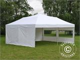 Pop up gazebo FleXtents PRO 6x6 m White, incl. 8 sidewalls - 6