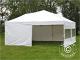 Pop up gazebo FleXtents PRO 6x6 m White, incl. 8 sidewalls - 8
