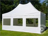 Pop up gazebo FleXtents PRO Peak Pagoda 4x6 m White, incl. 8 sidewalls - 1