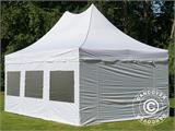 Pop up gazebo FleXtents PRO Peak Pagoda 4x6 m White, incl. 8 sidewalls - 3