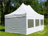 Pop up gazebo FleXtents PRO Peak Pagoda 4x6 m White, incl. 8 sidewalls - 4