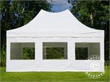 Pop up gazebo FleXtents PRO Peak Pagoda 4x6 m White, incl. 8 sidewalls - 5