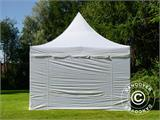 Pop up gazebo FleXtents PRO Peak Pagoda 4x6 m White, incl. 8 sidewalls - 6