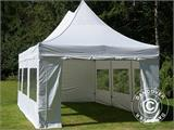 Pop up gazebo FleXtents PRO Peak Pagoda 4x6 m White, incl. 8 sidewalls - 9