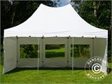 Pop up gazebo FleXtents PRO Peak Pagoda 4x6 m White, incl. 8 sidewalls - 12