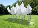 Pop up gazebo FleXtents PRO Peak Pagoda 4x6 m White, incl. 8 sidewalls - 25