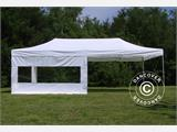 Vouwtent/Easy up tent FleXtents PRO 4x8m Wit, inkl. 6 Zijwanden - 1