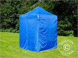 Pop up gazebo FleXtents Basic, 2x2 m Blue, incl. 4 sidewalls - 8