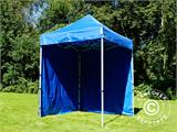 Pop up gazebo FleXtents Basic, 2x2 m Blue, incl. 4 sidewalls - 12
