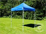 Pop up gazebo FleXtents Basic, 2x2 m Blue, incl. 4 sidewalls - 16