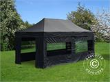 Pop up gazebo FleXtents PRO 4x8 m Black, incl. 6 sidewalls - 8