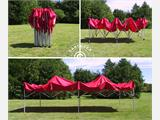 Pop up gazebo FleXtents PRO 4x8 m Red, incl. 6 sidewalls - 4
