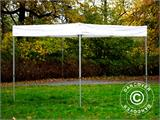 Gazebo rapido FleXtents® Xtreme 50 Exhibition 3x3m, Bianco, Ritardante di Fiamma - 2