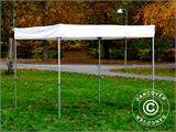 Gazebo rapido FleXtents® Xtreme 50 Exhibition 3x3m, Bianco, Ritardante di Fiamma - 6