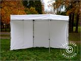 Vouwtent/Easy up tent FleXtents® Xtreme 50 Exhibition met zijwanden, 3x3m, Wit, Vlamvertragend - 12