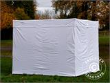 Vouwtent/Easy up tent FleXtents® Xtreme 50 Exhibition met zijwanden, 3x3m, Wit, Vlamvertragend - 21