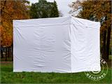 Vouwtent/Easy up tent FleXtents® Xtreme 50 Exhibition met zijwanden, 3x3m, Wit, Vlamvertragend - 26