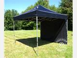 Quick-up telt FleXtents PRO 3x3m Svart, Flammehemmende, inkl. 4 sider - 21
