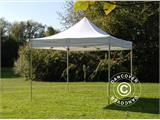 Vouwtent/Easy up tent FleXtents PRO 4x4m Wit, Vlamvertragende - 3
