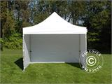 Pop up gazebo FleXtents Xtreme 50 4x4 m White, Flame retardant, incl. 4 sidewalls - 4