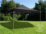 Pop up gazebo FleXtents Xtreme 4x4 m Black, Flame retardant, incl. 4 sidewalls - 6