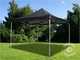 Pop up gazebo FleXtents Xtreme 4x4 m Black, Flame retardant, incl. 4 sidewalls - 8