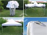 Carpa plegable FleXtents PRO 4x6m Blanco, Ignífuga - 2