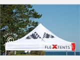 Pop up gazebo FleXtents PRO with full digital print, 3x3 m - 3