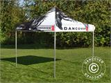 Pop up gazebo FleXtents PRO with full digital print, 3x3 m - 5