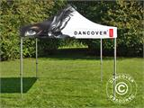 Pop up gazebo FleXtents PRO with full digital print, 4x4 m - 2