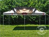 Pop up gazebo FleXtents PRO with full digital print, 4x8 m - 4