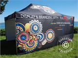 Pop up gazebo FleXtents PRO with full digital print, 4x8 m, incl. 4 sidewalls - 3
