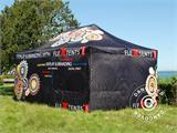 Pop up gazebo FleXtents PRO with full digital print, 4x8 m, incl. 4 sidewalls - 4